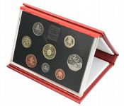1994 Proof set red Leather deluxe